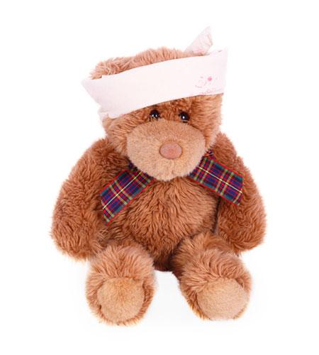 Teddy mit Stirnband